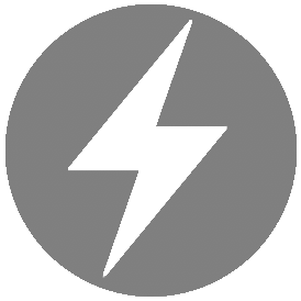 Electric bolt icon